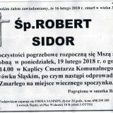Ś.P. Robert Sidor 16.02.2018r. Lwówek Śląski