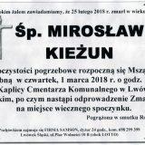 Ś.P. Mirosław Kieżun 25.02.2018r. Lwówek Śląski