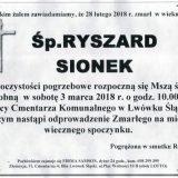 Ś.P. Ryszard Sionek 28.02.2018r. Lwówek Śląski