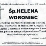 Ś.P. Helena Woroniec 11.03.2018r. Lwówek Śląski