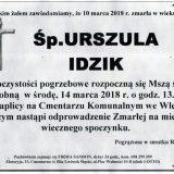 Ś.P. Urszula Idzik 10.03.2018r. Lwówek Śląski, Wleń