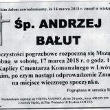 Ś.P. Andrzej Bałut 14.03.2018r. Lwówek Śląski