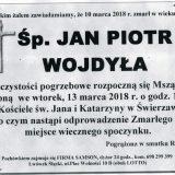 Ś.P. Jan Piotr Wojdyła 10.03.2018r. Złotoryja, Świerzawa