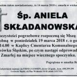 Ś.P. Aniela Składanowska 14.03.2018r. Lwówek Śląski