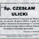 Ś.P. Czesław Ulicki 15.03.2018r. Lwówek Śląski