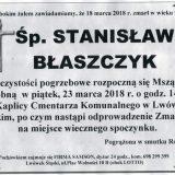 Ś.P. Stanisław Błaszczyk 18.03.2018r. Lwówek Śląski