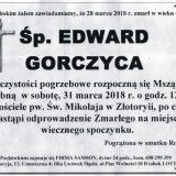 Ś.P. Edward Gorczyca 24.03.2018r. Złotoryja