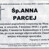 Ś.P. Anna Parcej 01.04.2018r. Lwówek Śląski