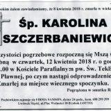 Ś.P. Karolina Szczerbaniewicz 08.04.2018r. Lwówek Śląski,Pławna