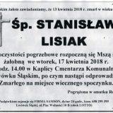 Ś.P. Stanisław Lisiak 13.04.2018r. Lwówek Śląski