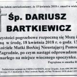 Ś.P. Dariusz Bartkiewicz 15.04.2018r. Złotoryja, Zagrodno