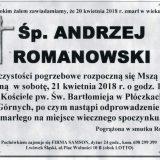 Ś.P. Andrzej Romanowski 20.04.2018r. Lwówek Śląski, Płóczki Górne