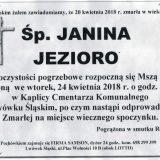 Ś.P. Janina Jezioro 20.04.2018r. Lwówek Śląski