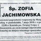 Ś.P. Zofia Jachimowska 02.05.2018r. Lwówek Śląski, Proboszczów