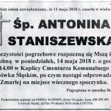 Ś.P. Antonina Staniszewska 11.05.2018r. Lwówek Śląski
