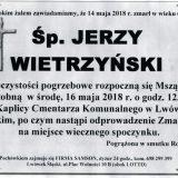 Ś.P. Jerzy Wietrzyński 14.05.2018r. Lwówek Śląski