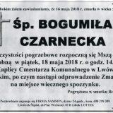 Ś.P. Bogumiła Czarnecka 16.05.2018r. Lwówek Śląski
