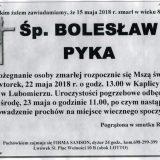 Ś.P. Bolesław Pyka 15.05.2018r. Lwówek Śląski, Lubomierz
