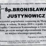 Ś.P. Bronisława Justynowicz 24.05.2018r. Lwówek Śląski