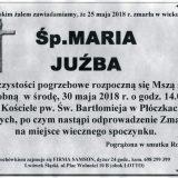 Ś.P. Maria Juźba 25.05.2018r. Lwówek Śląski, Płóczki Górne