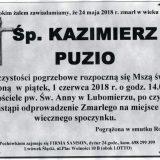 Ś.P. Kazimierz Puzio 24.05.2018r. Lwówek Śląski, Lubomierz