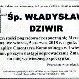 Ś.P. Władysław Dziwir 01.06.2018r. Lwówek Śląski