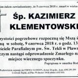 Ś.P. Kazimierz Klementowski 05.06.2018r. Lwówek Śląski, Pławna