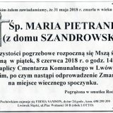 Ś.P. Maria Pietranis 31.05.2018r. Lwówek Śląski