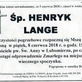 Ś.P. Henryk Lange 05.06.2018r. Lwówek Śląski, Lubomierz