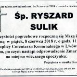 Ś.P. Ryszard Sulik 05.06.2018r. Lwówek Śląski