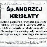 Ś.P. Andrzej Krisłaty 09.06.2018r. Lwówek Śląski, Pławna