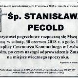 Ś.P. Stanisława Pecold, 27.06.2018 r. Lwówek Śląski