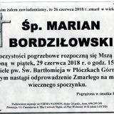Ś.P. Marian Bordziłowski, 26.06.2018 r. Lwówek Śląski – Płóczki Górne