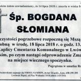 Ś.P. Bogdana Słomiana, 14.07.2018 r.  Lwówek Śląski