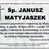 Ś.P.  Janusz Matyjaszek, 16.07.2018 r. Lwówek Śląski