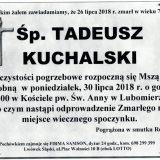 Ś.P. Tadeusz Kuchalski 26.07.2018 r.  Lwówek Śląski –  Lubomierz