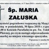 Ś.P. Maria Załuska 27.07.2018r. Lwówek Śląski, Pławna