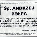 Ś.P. Andrzej Połeć 28.07.2018 r. Lwówek Śląski – Marczów