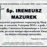 Ś.P. Ireneusz Mazurek, 06.08.2018 r. Lwówek Śląski