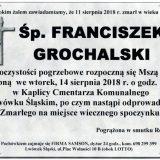 Ś.P. Franciszek Grochalski, 11.08.2018 r. Lwówek Śląski
