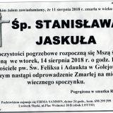 Ś.P. Stanisława Jaskuła, 11.08.2018 r. Lwówek Śląski – Golejów