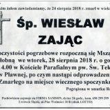 Ś.P. Wiesław Zając 24.08.2018r. Lwówek Śląski – Pławna