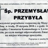 Ś.P. Przemysław Przybyła, 27.08.2018 r. Lwówek Śląski