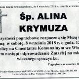 Ś.P. Alina Krymuza 04.09.2018 r. Lwówek Śląski – Wleń