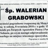 Ś.P. Walerian Grabowski 05.09.2018 r. Lwówek Śląski – Sobota