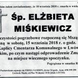 Ś.P. Elżbieta Miśkiewicz, 10.09.2018 r. Lwówek Śląski