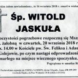 Ś.P. Witold Jaskuła, 16.09.2018 r. Lwówek Śląski – Golejów