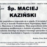 Ś.P. Maciej Kaziński, 14.09.2018 r. Lwówek Śląski – Lubomierz – Sopot