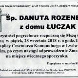 Ś.P. Danuta Rozenek, 23.09.2018 r. Lwówek Śląski