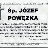 Ś.P. Józef Powęzka, 01.10.2018 r. Lwówek Śląski
